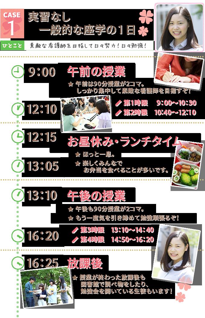小阪病院看護専門学校・学生の1日